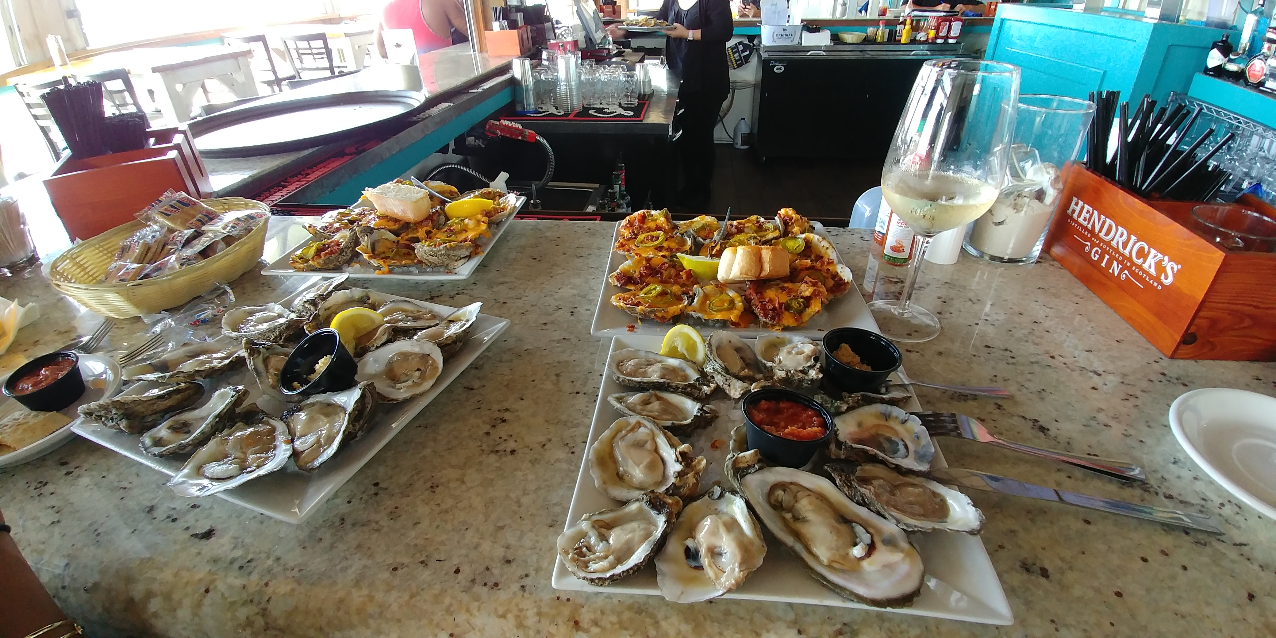 Oysters at Bacchus in Biloxi